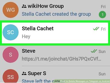 چگونه پیام های فرستاده شده در تلگرام را حذف کنیم