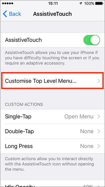 معرفی قابلیت Assistive Touch در آيفون