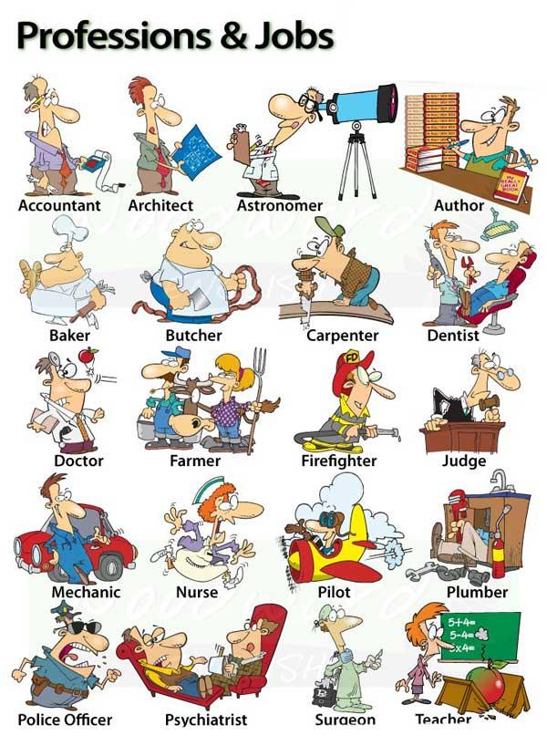 انواع شغل ها به انگلیسی (و جملات کاربردی مرتبط)